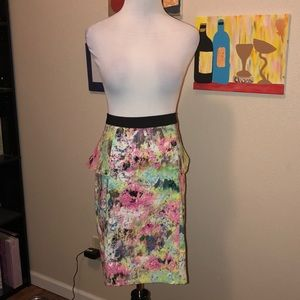 Gibson latimer: water color pencil skirt